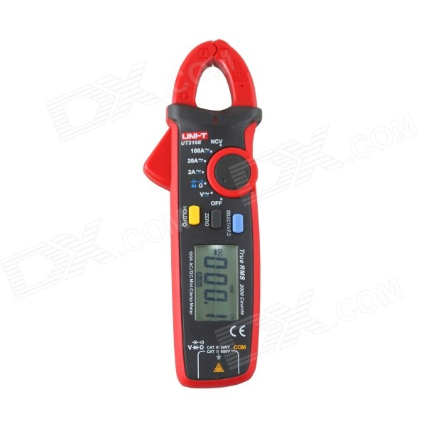 "UNI-T UT210E 100A 1.8"" LCD Mini Clamp Multimeter - Red+Black Grey"