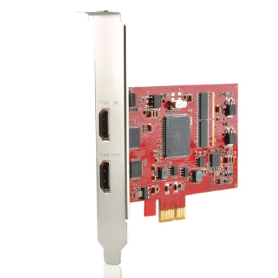 C727 HDMI 1.3 PCI-Express 1080P Full HD HDMI Capture Card - Red + Silver
