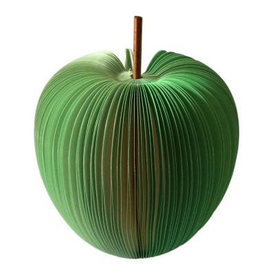 Unique Creative Apple Shaped Memo Pad (About 120-Page) - Green ( L )