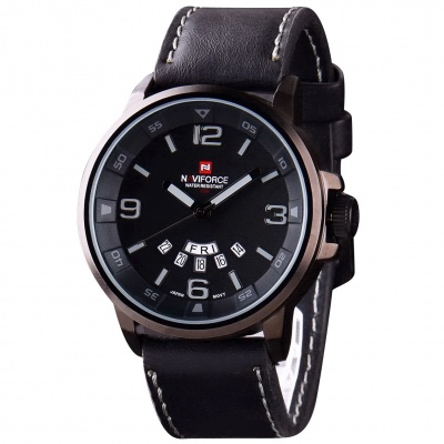 Men's Military Style Analog Sports Watch - Black + Grey (1*SR626SW)