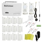 Wireless GSM Autodial Home / Garage Security Alarm System w/ 12 x Door / Window Contacts - White