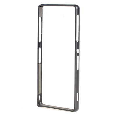 Ultra-Slim Aluminum Alloy Bumper Frame Case for Sony Xperia Z3 - Black