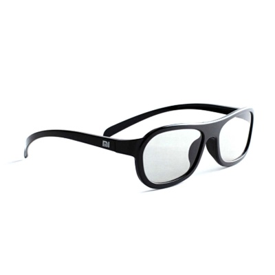 Xiaomi Fashion PC Frame TV 3D Spectacles Polarized Eyeglass - Black