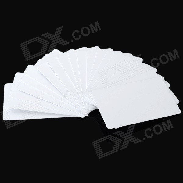 Contactless Rewritable 13.56MHz Smart RFID IC Cards - White (20PCS)