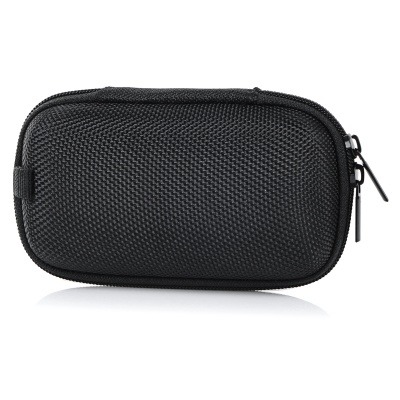 Portable Shock-Resistant Zippered Storage Case - Black