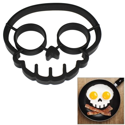 Creative Skull Shaped Fried Egg Mold - Black