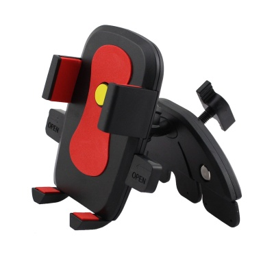 Car CD Slot Mount Holder for IPHONE / Samsung / Xiaomi - Red + Black