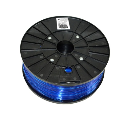 1.75mm Diameter 3D Printer ABS Cable - Translucent Blue + Black (300m)
