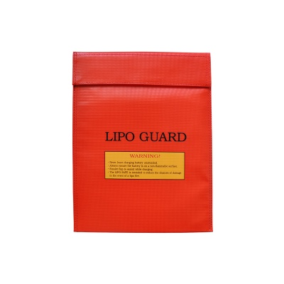 30*23cm Exposion-Proof Safety Storage Bag for RC Li-Po Battery - Red