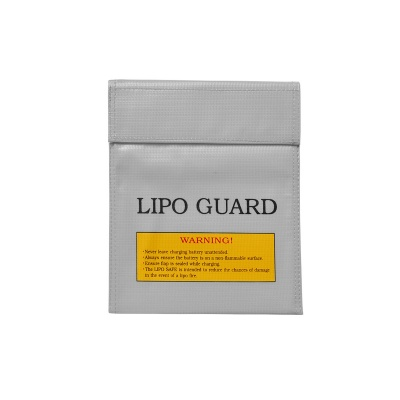 22*18cm Exposion-Proof Safety Storage Bag for Li-Po Battery - Grey