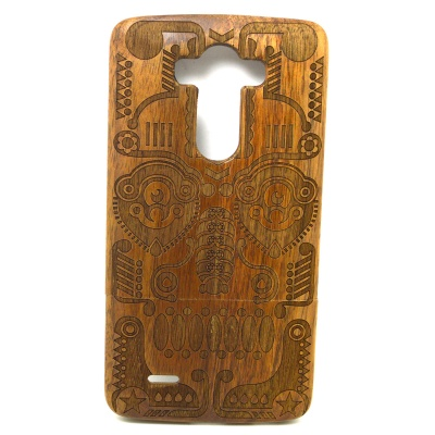 G3-1 Mask Style Detachable Back Case Cover for LG G3 - Brown