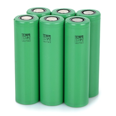 "Rechargeable 3.7V ""2600mAh"" 18650 Li-ion Battery Set - Green (6 PCS)"