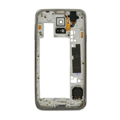 Replacement Middle Plate Frame Bezel Cover for Samsung S5 - White