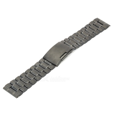 Stainless Steel Watch Band for LG G Watch Smart Watch - Black