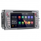Android 4.4 Car DVD Radio System GPS BT AUX SWC WiFi for Ford - Silver