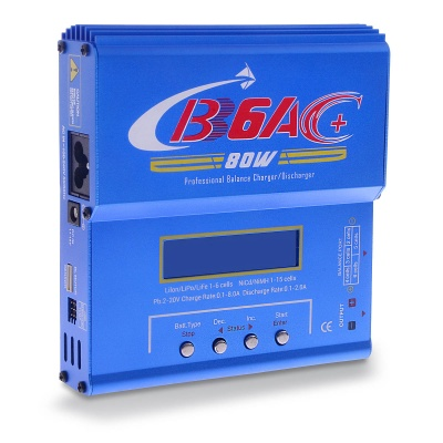 "B6AC Updated 2.5"" 80W Battery Balanced Charger (EU Plug)"