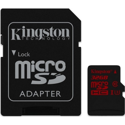 Kingston SDCA3/32GB 32GB MicroSDHC UHS-I U3 Memory Card