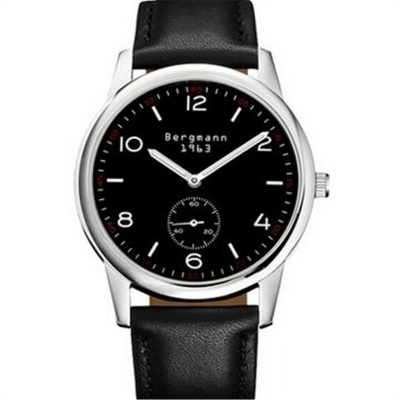 Bergmann 1963 Classic Men's Watch-Black + Silver