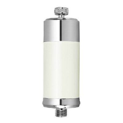 Stainless Steel Filter for Shower Water - White + Silver