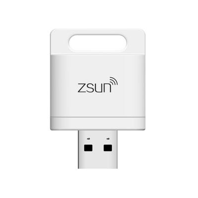 Zsun Wi-Fi USB 2.0 TF Card Reader for Tablet / CellPhone - White