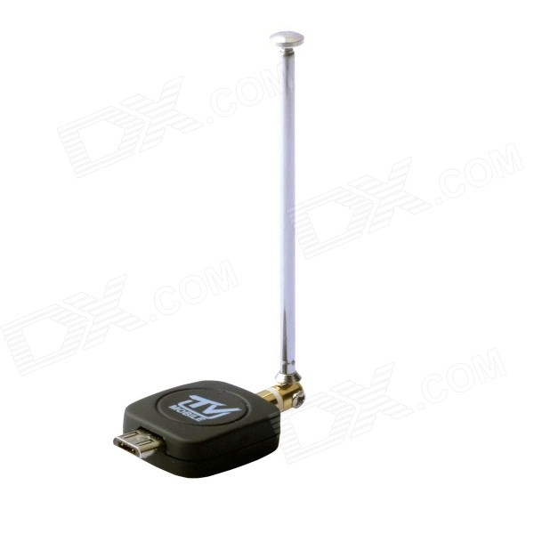 Micro USB DVB-T Phone TV Tuner Receiver Stick - Black + Silver
