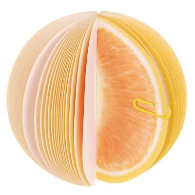 Unique Creative Grapefruit Shaped Memo Pad (About 150-Page)