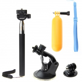 Float Grip + Car Long Arm Bracket + Triangle Selfie Monopod for GoPro