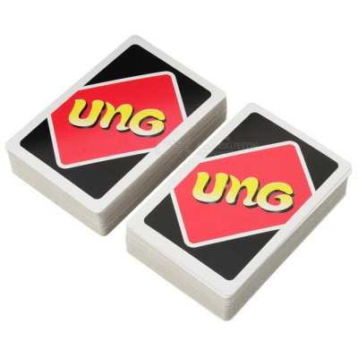 Thin UNO Card Game - Red (108-Sheet Deck)