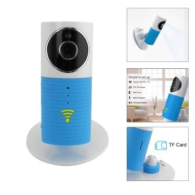 720P HD Wireless Smart IP Camera w/ TF / Wi-Fi - White + Blue