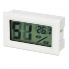 """1.5"""" LCD Temperature Humidity Meter Thermometers Hygrometer - White"""