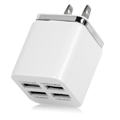USB 5V 5.1A Smart Quick Charger - White (100~240V / US Plugss)