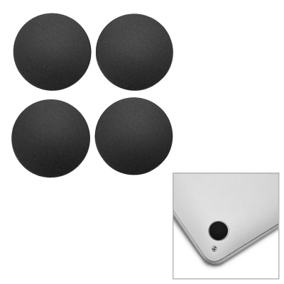 Silicone Bottom Case Foot Pads for Macbook PRO A1278- Black (4PCS)