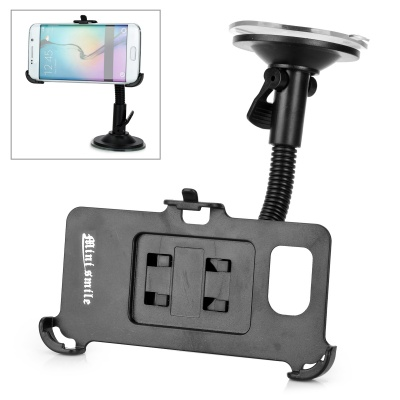 Mini Smile Flexible Neck Car Mount Holder for Samsung S6 Edge - Black