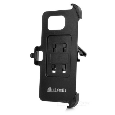 Mini Smile Car Air Outlet Holder + Mount for Samsung S6 Edge - Black