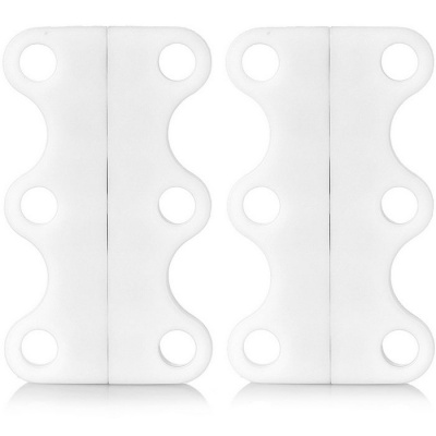 Magnetic Shoe Lace Buckles - White