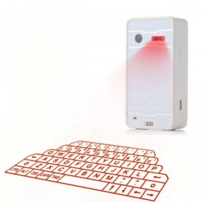 LED Laser Bluetooth Virtual Keyboard / Speaker / Mouse - White