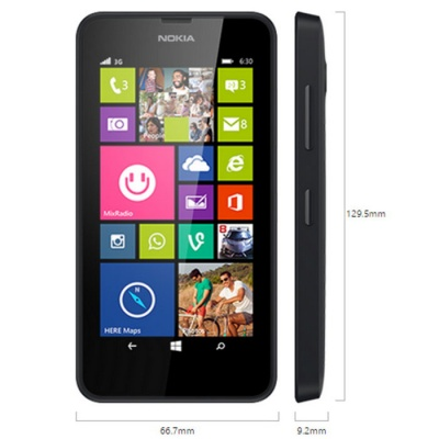 "Genuine Nokia Lumia 630 3G SIM Free/ Unblocked 4.5"" Smart Mobile Phone - Black"