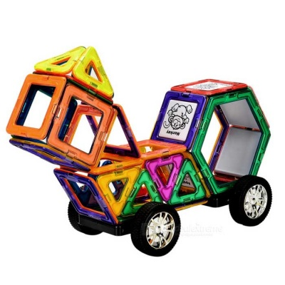 M40 Educational Magnetic Construction Piece Toy for Kids - Multicolor