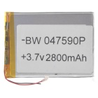 """Replacement 3.7V 2300mAh Li-polymer Battery for 7~10"""" Tablet - Silver"""