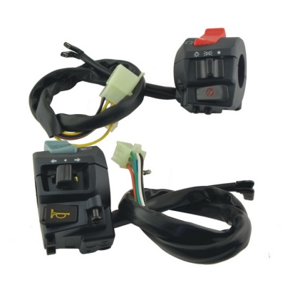 CARKING 2-in-1 Motorcycle Handle Bar Electrical Switches - Black