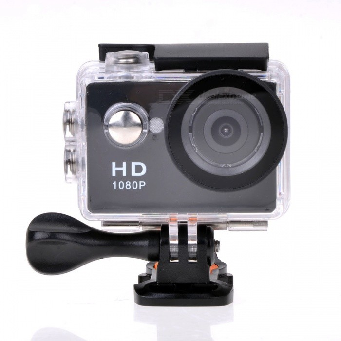 """EOSCN A9 1080P 2"""" LCD Waterproof Camera 5.0MP Action Camcorder - Black"""