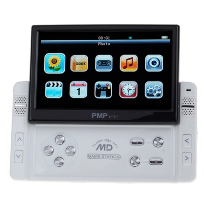 "5.0"" LCD Media Player/Game Console with 800KP Camera + TF Card Slot + TV Out/In (8GB)"