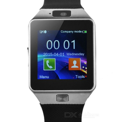 DZ09 Bluetooth Smart Wrist Watch w/ SIM Slot, Pedometer - Black + Grey