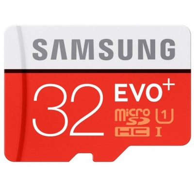 Samsung Evo+ MicroSDHC 32GB Class 10 UHS-1 80MB/s Memory with SD Adapter MB-MC32DA