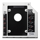 """2.5"""" SATA to SATA HDD/SSD Caddy for Notebook Optical Drive - Silver"""