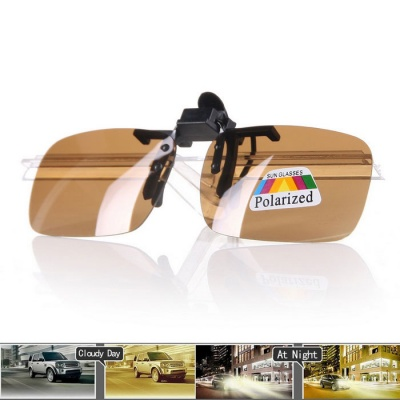 Anti-Glare Resin Lenses Sunglasses w/ Cleaning Cloth - Brown + Black