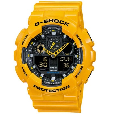 Casio G-Shock GA-100A-9ADR Men's Watch-Yellow