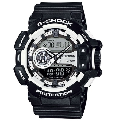 Casio G-Shock GA-400-1AER Men's Digital Watch-Black + White