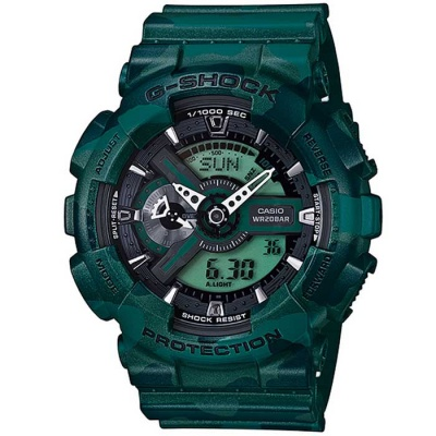 Casio G-Shock GA-110CM-3AER Watch-Camouflage Green