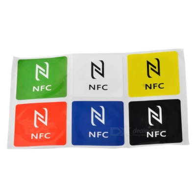 Ntag216 888 Bytes NFC Tags for Samsung + More - Red + Multicolor(6PCS)